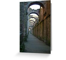 Fountains Abbey - inside the ruin Greeting Card