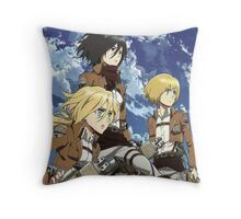Christa Mikasa Armin Throw Pillow