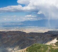 Squall over the Bingham Canyon Mine Sticker