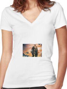 Jupiter Ascending Jupiter Jones and Caine Wise Women's Fitted V-Neck T-Shirt