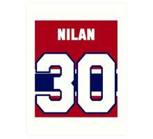 Knuckles Nilan #30 - red jersey Art Print