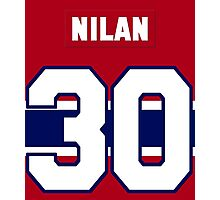 Knuckles Nilan #30 - red jersey Photographic Print