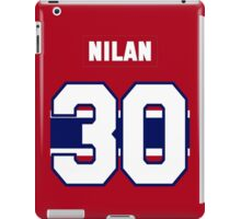 Knuckles Nilan #30 - red jersey iPad Case/Skin