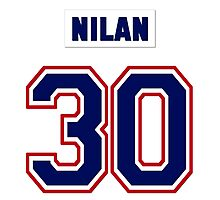 Knuckles Nilan #30 - white jersey Photographic Print