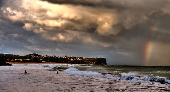 Stormy Weather - Warriewood Beach - The HDR Series by Philip Johnson