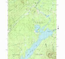 Maine USGS Historical Map Indian Pond North 105226 1988 24000 by wetdryvac