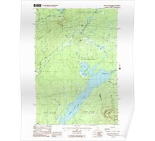 Maine USGS Historical Map Indian Pond North 105226 1988 24000 Poster