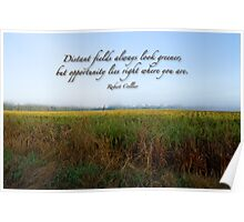 Distant fields . . . Poster