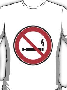 No eCig sticker T-Shirt