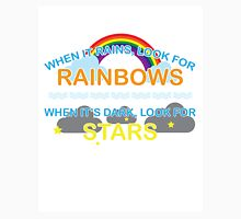 When It Rains Look For Rainbows, When It's Dark Look For Stars Womens Fitted T-Shirt