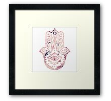 Floral Hamsa Framed Print
