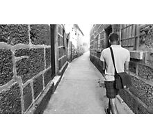 An alley in Guimaraes, Portugal Photographic Print