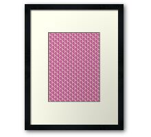 Pink Ribbon Tiled Pattern Framed Print
