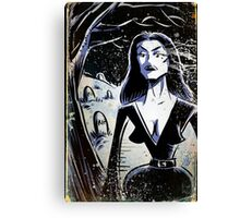 Vampira Plan 9 From Outer Space Outerspace Ed Wood B-movie Bmovie Cult Classic film movie schlock bad movie female girl elvira black hair mistress of the dark horror host sci fi science fiction Canvas Print