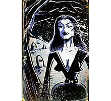 Vampira Plan 9 From Outer Space Outerspace Ed Wood B-movie Bmovie Cult Classic film movie schlock bad movie female girl elvira black hair mistress of the dark horror host sci fi science fiction Photographic Print