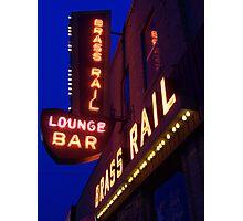 Brass Rail Lounge Photographic Print