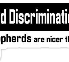 German Shepherd Breed Discrimination Sticker