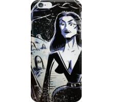 Vampira Plan 9 From Outer Space Outerspace Ed Wood B-movie Bmovie Cult Classic film movie schlock bad movie female girl elvira black hair mistress of the dark horror host sci fi science fiction iPhone Case/Skin