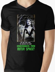 Vampira Plan 9 From Outer Space Outerspace Ed Wood B-movie Bmovie Cult Classic film movie schlock bad movie female girl elvira black hair mistress of the dark horror host sci fi science fiction Mens V-Neck T-Shirt