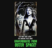 Vampira Plan 9 From Outer Space Outerspace Ed Wood B-movie Bmovie Cult Classic film movie schlock bad movie female girl elvira black hair mistress of the dark horror host sci fi science fiction T-Shirt