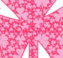 Pink Shamrocks Sticker