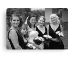 Alicia & Bridesmaids Canvas Print