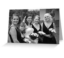 Alicia & Bridesmaids Greeting Card