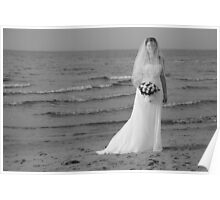 Alicia Wedding Beach Shoot Poster