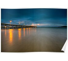 Coffs Harbour Jetty at Dusk Poster