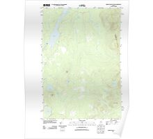 Maine USGS Historical Map Indian Pond South 20110902 TM Poster
