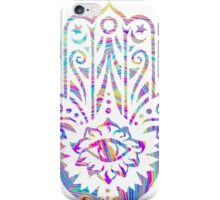 Rainbow Swirl Hamsa iPhone Case/Skin