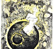 Birth Monoprints 1 by Stephen Haning