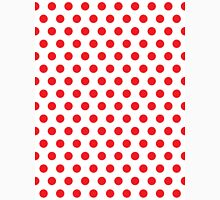 Polkadots Red and White Unisex T-Shirt