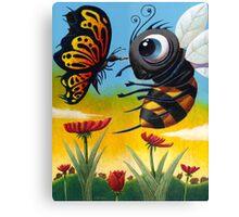 Bee-Zurk Butterfly Canvas Print