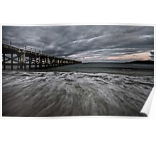 Storm Clouds Over Coffs Poster