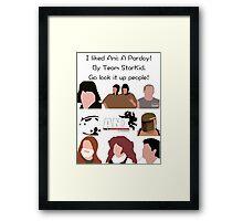 I liked Ani: A Parody Framed Print