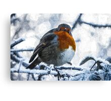 Artwork - Robin in the Snow Canvas Print