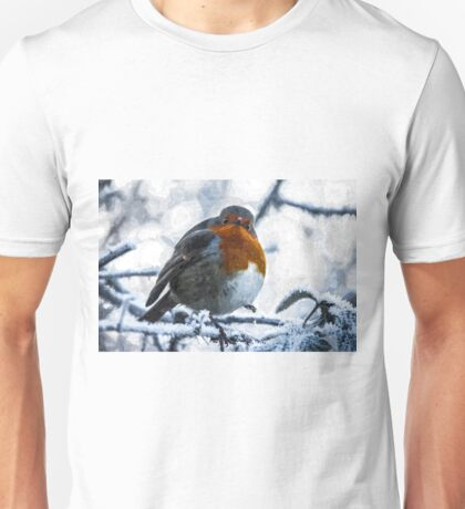 Artwork - Robin in the Snow Unisex T-Shirt