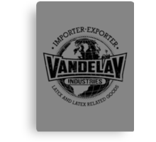 Vandelay Industries (Black) Canvas Print