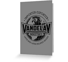 Vandelay Industries (Black) Greeting Card