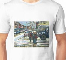 BEST MONTREAL PAINTINGS CROSSING COTE ST. CATHERINE MONTREAL ART Unisex T-Shirt