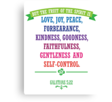The Fruit of the Spirit - Christian Quote Canvas Print