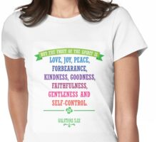 The Fruit of the Spirit - Christian Quote Womens Fitted T-Shirt