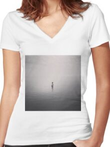 Loneliness Women's Fitted V-Neck T-Shirt