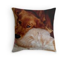 Best Buddies Wild Bill Hickock Kitten and Penelope Throw Pillow