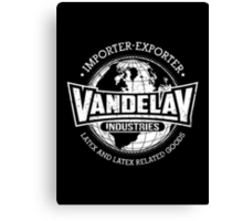 Vandelay Industries (white) Canvas Print