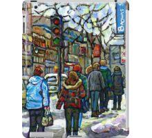 CANADIAN WINTER CITY SCENE DOWNTOWN MONTREAL iPad Case/Skin