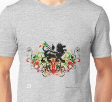 Dubstep Rasta Lion of Judah No Werdz Version Unisex T-Shirt