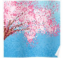 Pixel Sakura / Cherry Blossom Poster