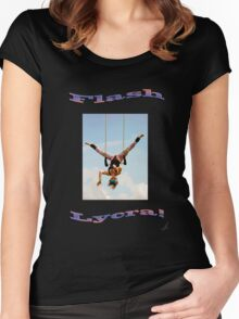FLASH LYCRA! in colour Women's Fitted Scoop T-Shirt